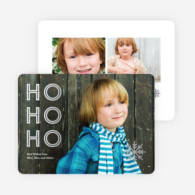 Foil Ho, Ho, Ho Christmas Cards - Gray