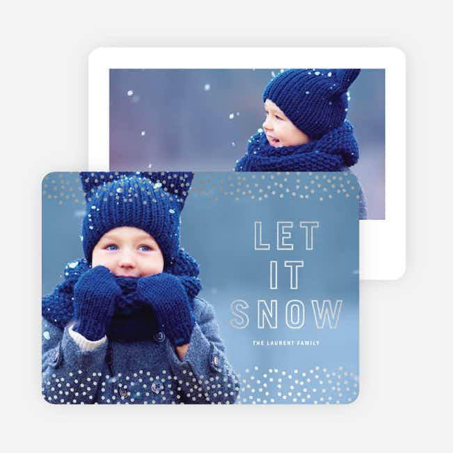 Foil Let It Snow Holiday Cards - Gray