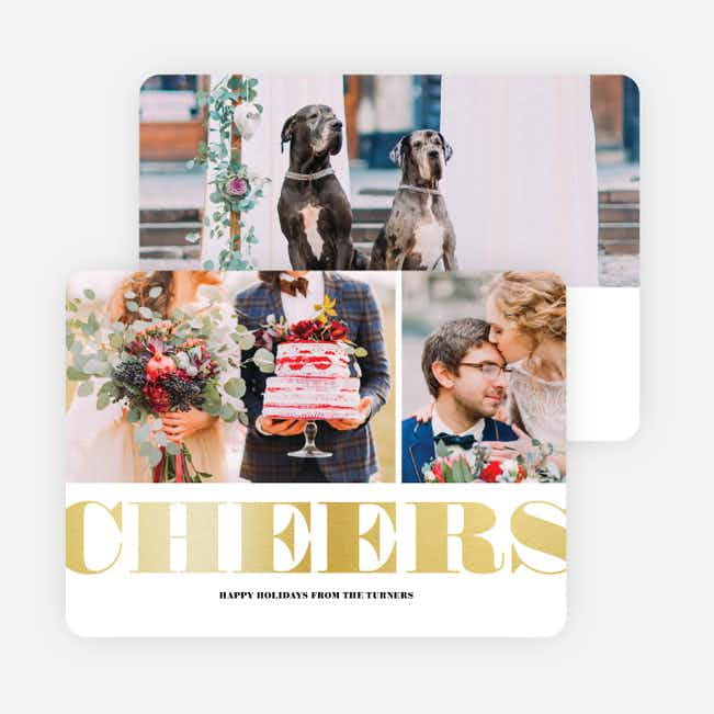 Foil Type Holiday Cards - Yellow