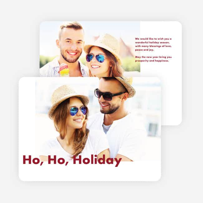 Go Bold Holiday Cards - Red
