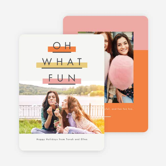 Highlighter Fun Holiday Cards - Orange