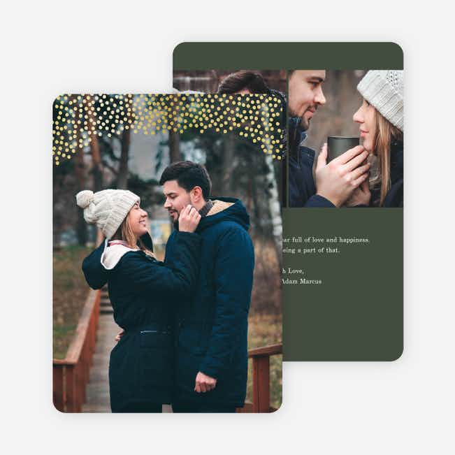 Holiday Confetti Holiday Cards - Green