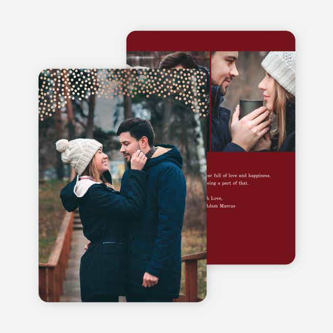Holiday Confetti Holiday Cards - Red