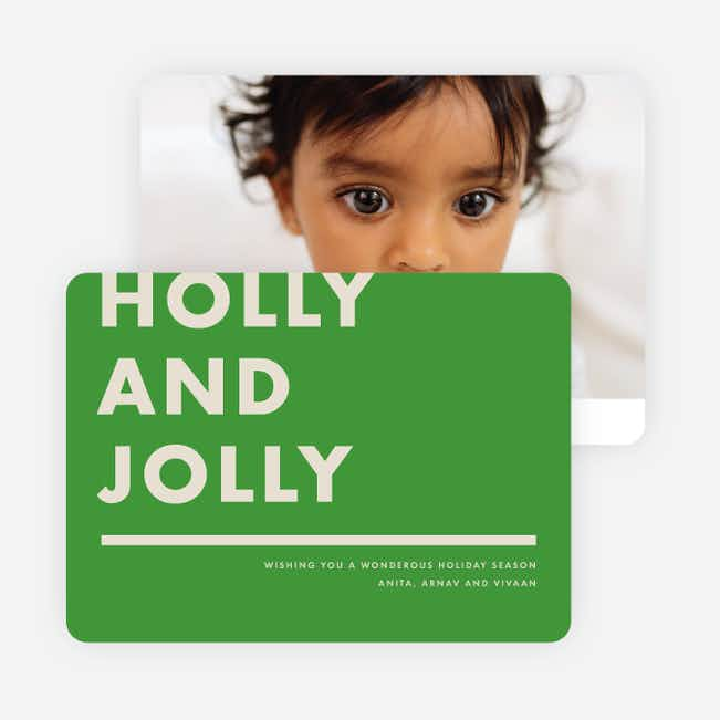 Holly & Jolly Holiday Cards - Green