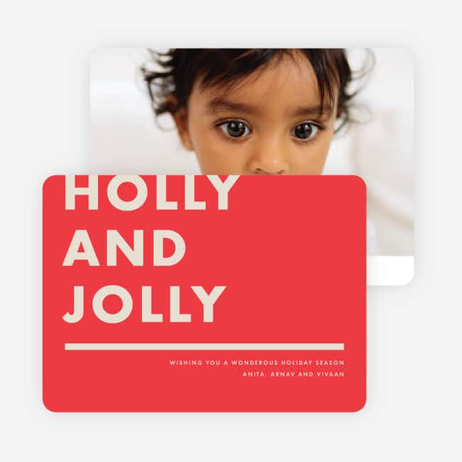 Holly & Jolly Holiday Cards - Red