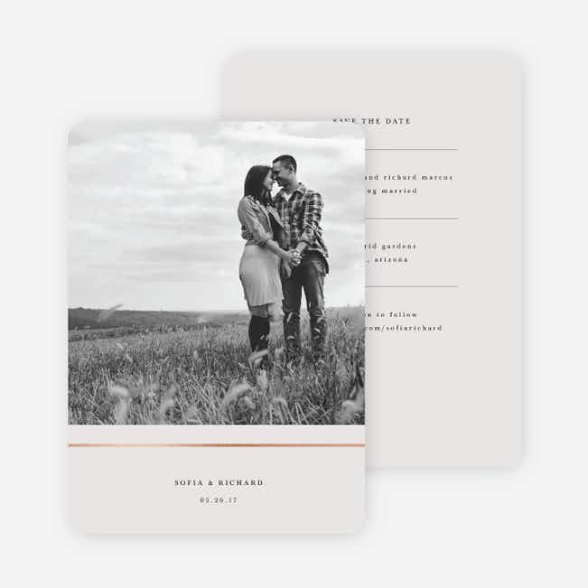 Less is More Save The Dates - Beige