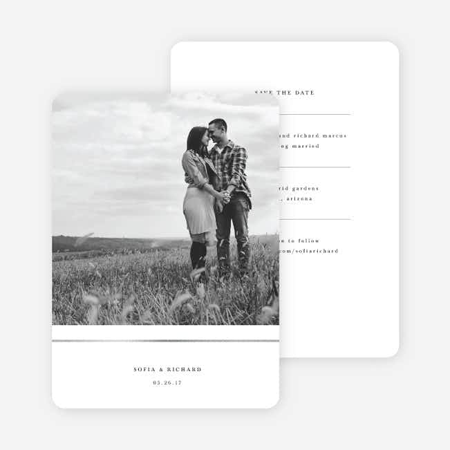 Less is More Save The Dates - White