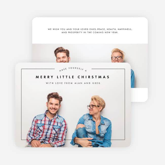Merry Arc Photo Christmas Cards - Black