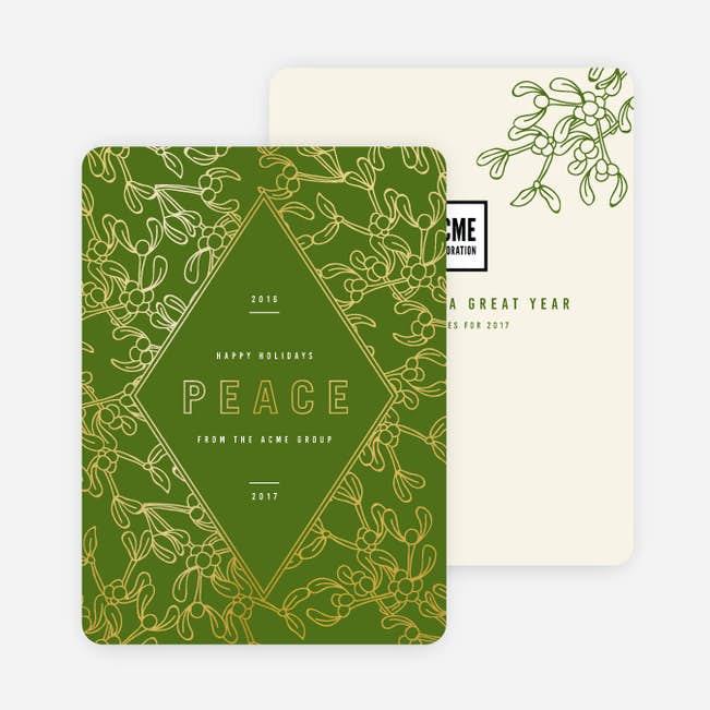 modern foil diamond main - Modern Holiday Cards