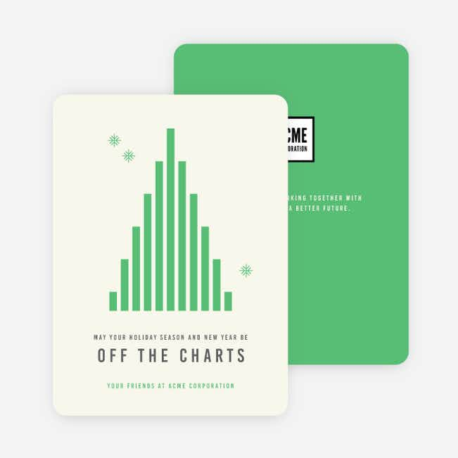 Off The Charts Corporate Holiday Cards - Green