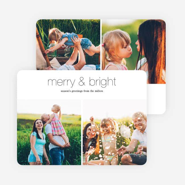 Photo Memories Christmas Cards - Black