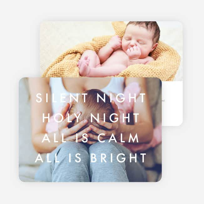 Photo Words Christmas Cards - Black