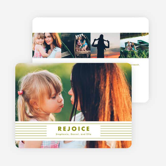 Rejoice Banner Holiday Cards - Green