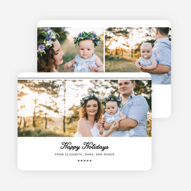 Script Holiday Cards - Black