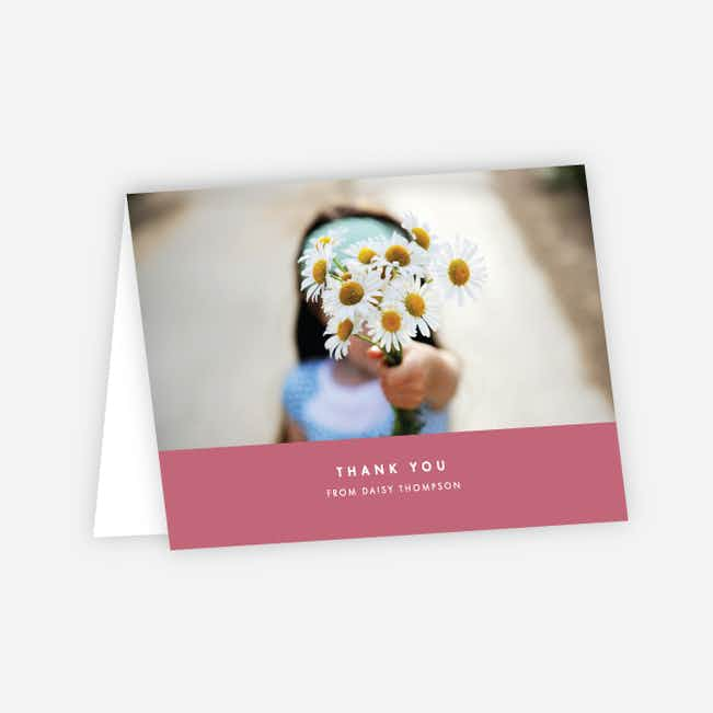 Simple & Chic Thank You Cards - Pink