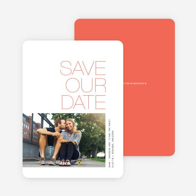 Simply Type Save The Dates - Red