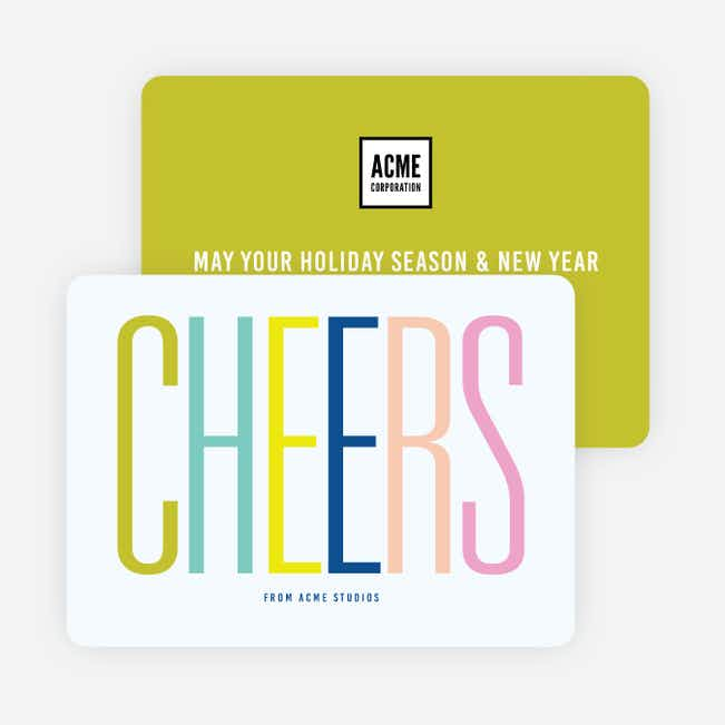 Tall Type Corporate Holiday Cards - Multi