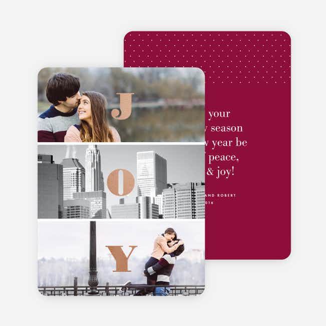 Divided Joy Holiday Cards - Red