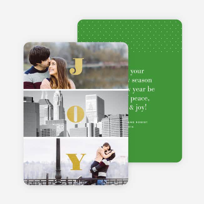 Divided Joy Holiday Cards - Green