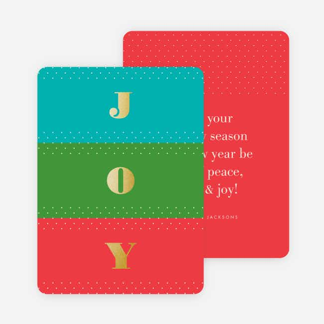 Foil Colors of Joy Holiday Cards - Red