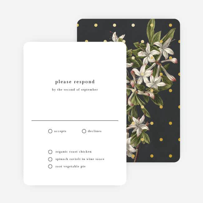 Floral Bliss Wedding Response Cards - Gray