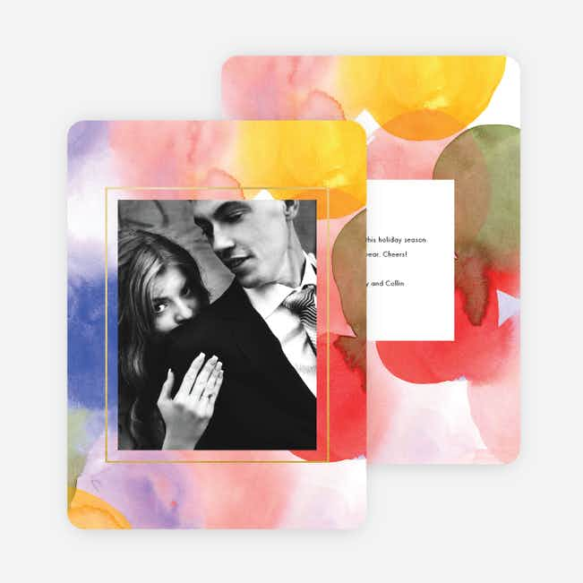 Watercolor Standout Photo Cards - Multi
