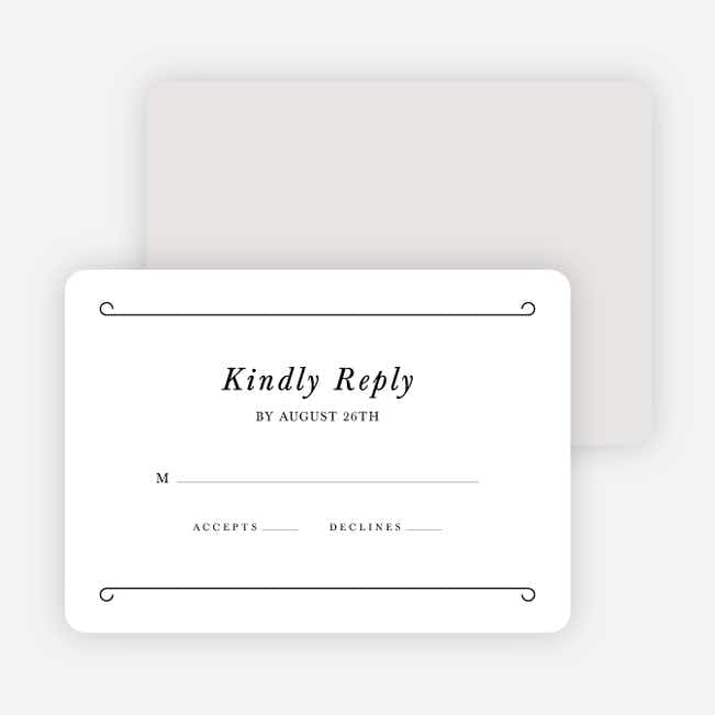 Chic Sophistique Wedding Response Cards - Black