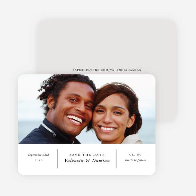 Chic Sophistique Wedding Save the Date Cards - Black