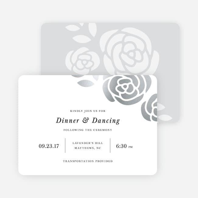 Coming Up Roses Wedding Reception Cards Paper Culture