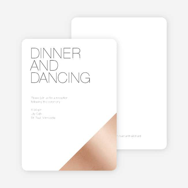 Cornerstones of Bliss Wedding Reception Cards - White