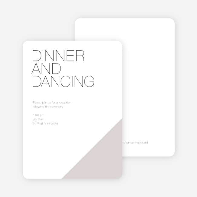 Cornerstones of Bliss Wedding Reception Cards - Gray