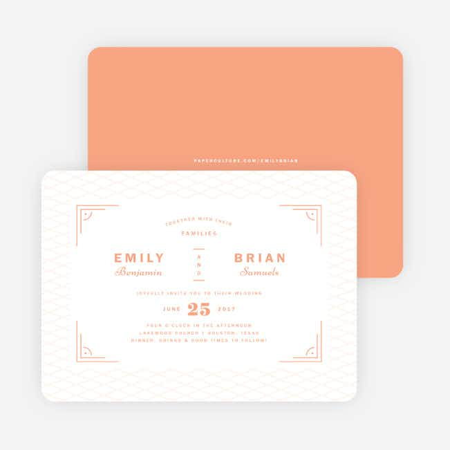 Crossing Paths Wedding Invitations - Orange