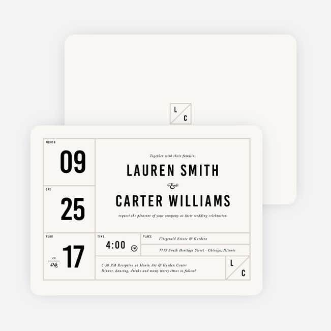 It's a Date Wedding Invitations - Beige