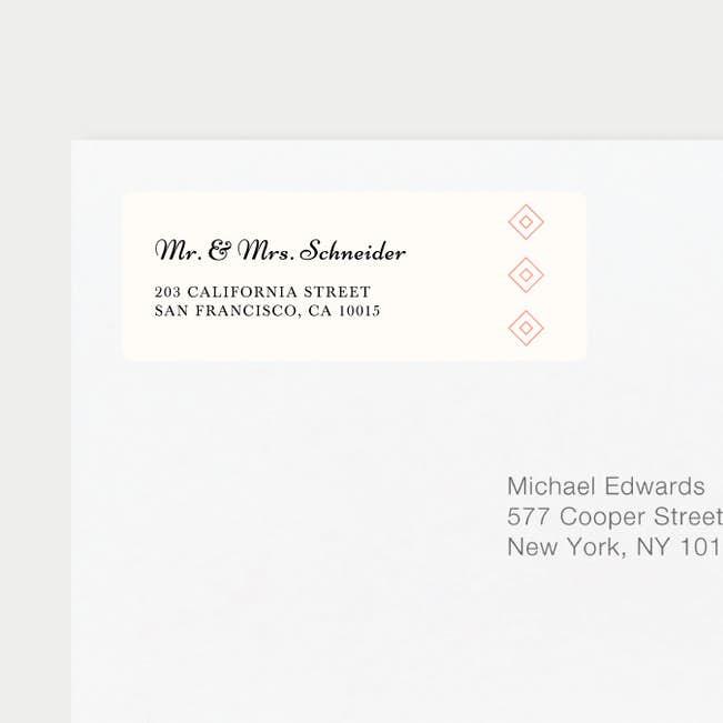 diamonds in the rough wedding return address labels paper culture