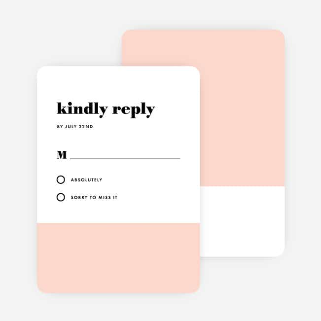 Sealed with a Ring Wedding Response Cards - Pink