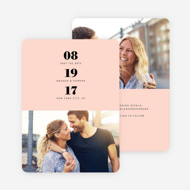 Sealed with a Ring Wedding Save the Date Cards - Pink
