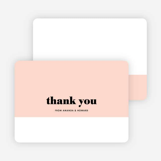 Sealed with a Ring Wedding Thank You Cards - Pink