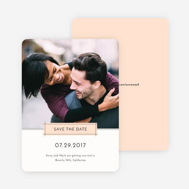 Simple Lines Save the Dates - Pink