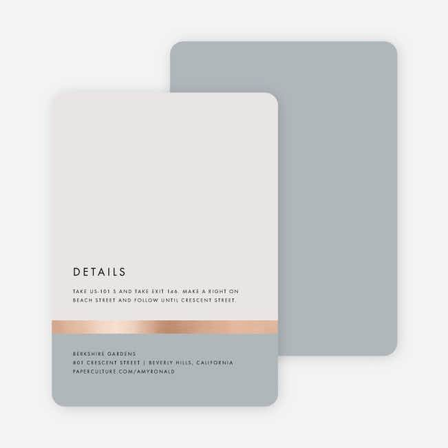 Stripe It Wedding Direction Cards - Gray