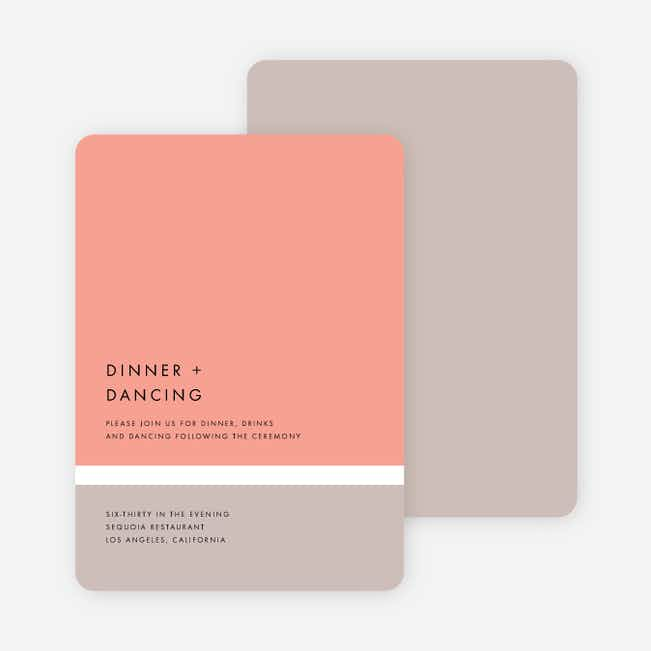 Stripe It Wedding Reception Cards - Pink