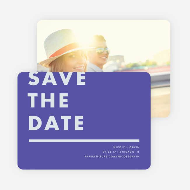 Today's Modernist Save the Dates - Purple