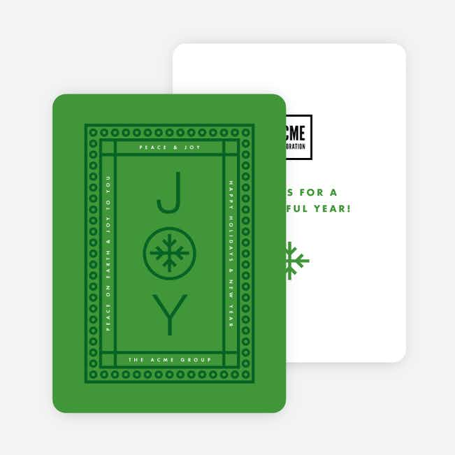 Circle Borders Corporate Holiday Cards - Green