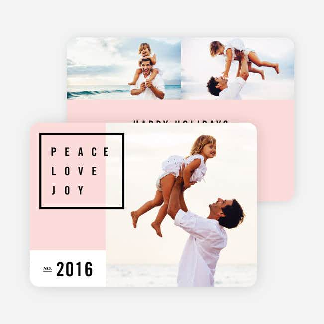 Simply Stated Holiday Cards - Pink