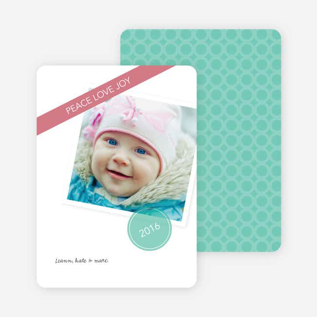 Circle of Peace, Love & Joy Holiday Photo Cards - Blue