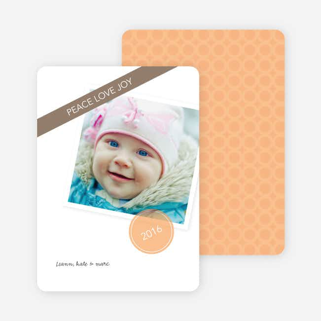 Circle of Peace, Love & Joy Holiday Photo Cards - Orange