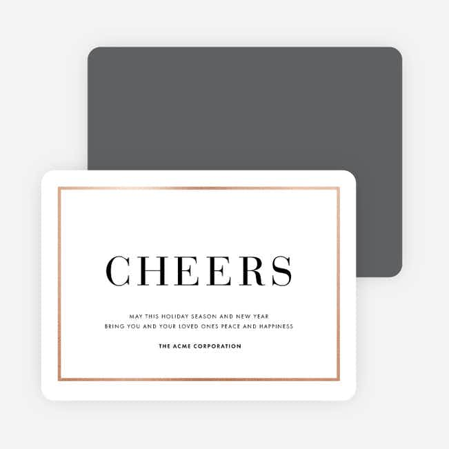 Simply Foil Corporate Holiday Cards - Gray