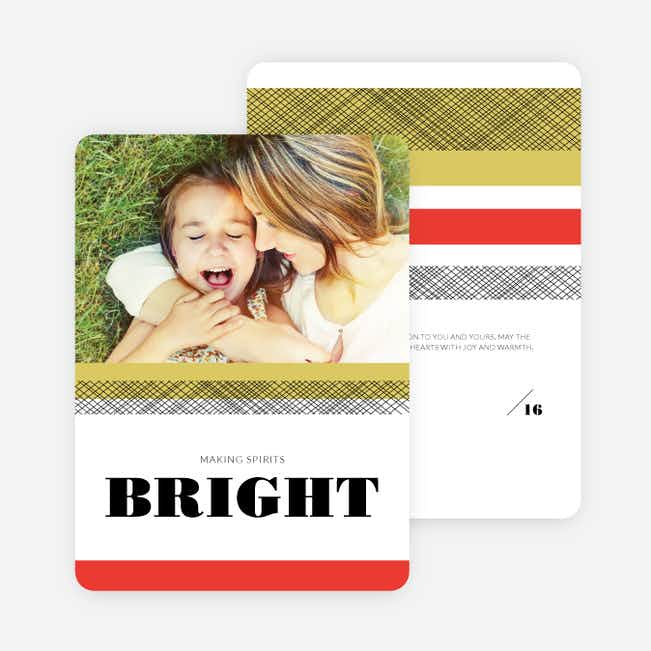 Making Spirits Bright Christmas Card - Green