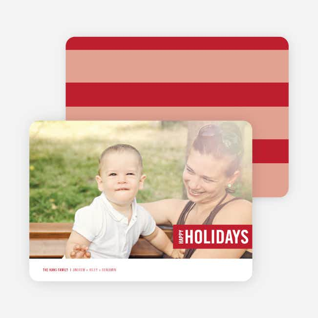 Holiday Band Holiday Photo Cards - Red
