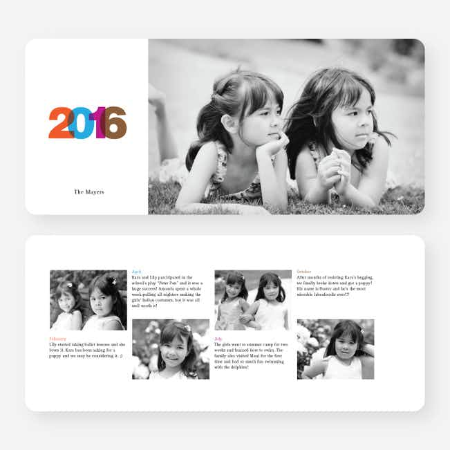 Color New Year's Photo Cards - Multi