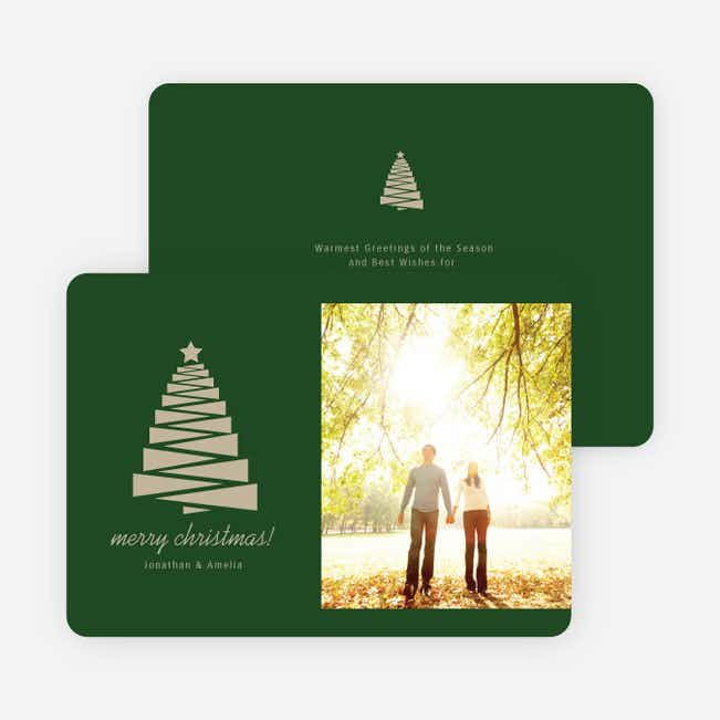 Crafty Christmas Tree Card - Green